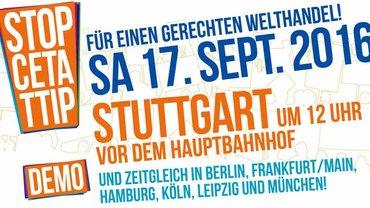 TTIP & CETA stoppen! Demo in Stuttgart
