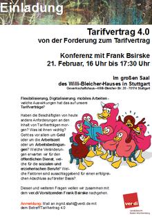 Konferenz Tarifpolitik 4.0