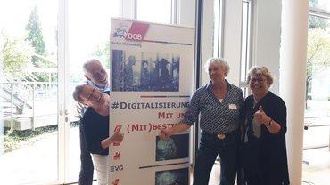 von links: Anette Sauer, Martin Kunzmann, Erika Bock, Gabriele Frenzer-Wolf