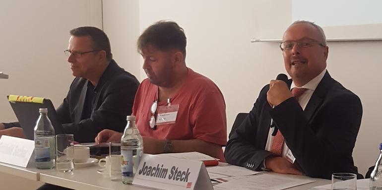 Martin Gross, Gotthold Secker und Joachim Steck auf dem Podium